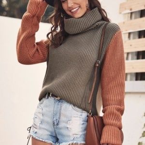 HENLEY Ribbed Turtleneck Sweater